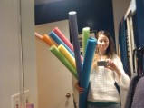 Getting all the pool noodles ready (right before the shoot of Season 2) (Image of Celinka Serre)