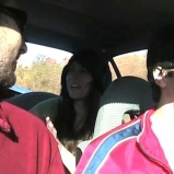 "Driving to Eastman (Qc) (""Feastman"" - 2008) (Image of Celinka Serre, with Francis Leduc and Simon Aubut)"