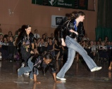 From a Hip Hop live performance with Académie Danielle Nepveu, as Michael Jackson (Image of Celinka Serre, with Lucie Belleville and Andée-Ann Nepveu)