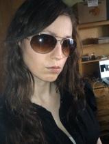 Attitude with sunglasses, hair down - 2011 (Image of Celinka Serre)