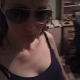 Attitude with sunglasses, hair tied - 2011 (Image of Celinka Serre)