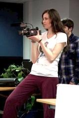 Prepping up (Season 1 - Behind-the-Scenes) (Image of Celinka Serre, with Vincent Hudon)