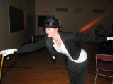 From a Hip Hop live performance with Académie Danielle Nepveu, as Charlie Chaplin) (Image of Celinka Serre)