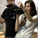 Focusing (Season 1 - Behind-the-Scenes) (Image of Celinka Serre, with Simon Gaudreault)