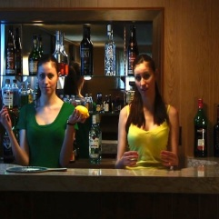 """You take the knife in your right hand"" (Eating A Lemon - 2010/2011) (Image of Celinka Serre, with Celinka Serre (split screen))"