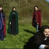 "The second apparition (""A Game Through Time"" - 2005-2006) (Image of Celinka Serre, with Valérie Séguin, Denise Paquet and Tommy Furino)"