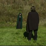 """Whoever knocks"" (""A Game Through Time"" - 2005-2006) (Image of Celinka Serre, with Tommy Furino)"