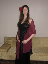 In my black medieval dress in 2009 (Image of Celinka Serre)