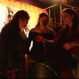 "Adding another ingredient in (""A Game Through Time"" - 2005-2006) (Image of Celinka Serre, with Valérie Séguin and Denise Paquet)"