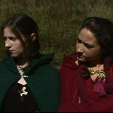 """Come sisters..."" (""A Game Through Time"" - 2005-2006) (Image of Celinka Serre, with Denise Paquet)"