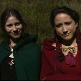 """Cheer we up his sprites..."" (""A Game Through Time"" - 2005-2006) (Image of Celinka Serre, with Denise Paquet)"