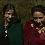"""And show the best of our delights."" (""A Game Through Time"" - 2005-2006) (Image of Celinka Serre, with Denise Paquet)"