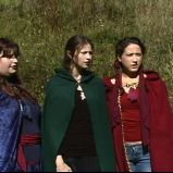 """Show his eyes and grieve his heart..."" (""A Game Through Time"" - 2005-2006) (Image of Celinka Serre, with Valérie Séguin and Denise Paquet)"