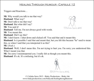 Healing Through Humour - Capsule 12 Celinka Serre - Binky Productions - Binky Ink