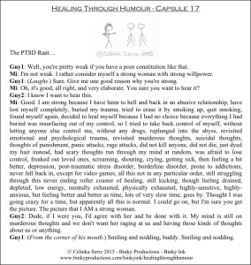Healing Through Humour - Capsule 17 Celinka Serre - Binky Productions - Binky Ink