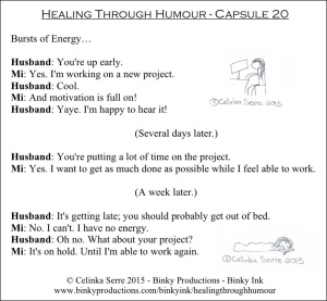 Healing Through Humour - Capsule 20 Celinka Serre - Binky Productions - Binky Ink