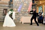 Wedding First Lightsaber Fight (Photographer: Matt Ayotte) Edited.
