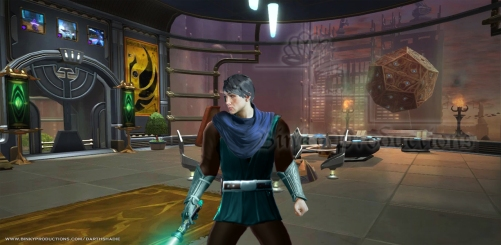 Fane with blade on Coruscant (w)