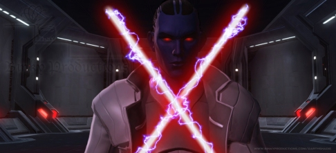 Relsor Unleashes His Ligtning Onto His Lightsabers (from Healers of the Force, Story 6, Star Wars Fan-Fiction by Celinka Serre)