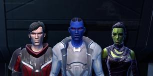 Perce, Relsor and Jassahmi look on as a Republic fleet is obliterated (from Healers of the Force, Story 6, Star Wars Fan-Fiction by Celinka Serre)